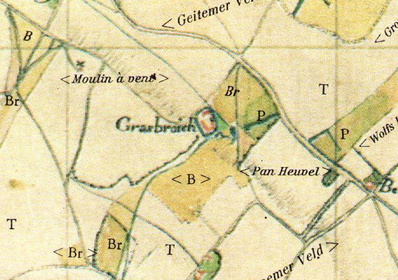 tranchotkaart Grasbroek 1803-1820